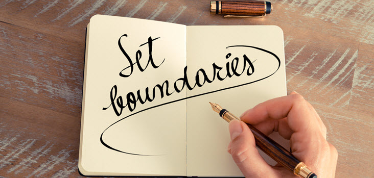 Boundaries are limits and rules you set in your interpersonal relationships.